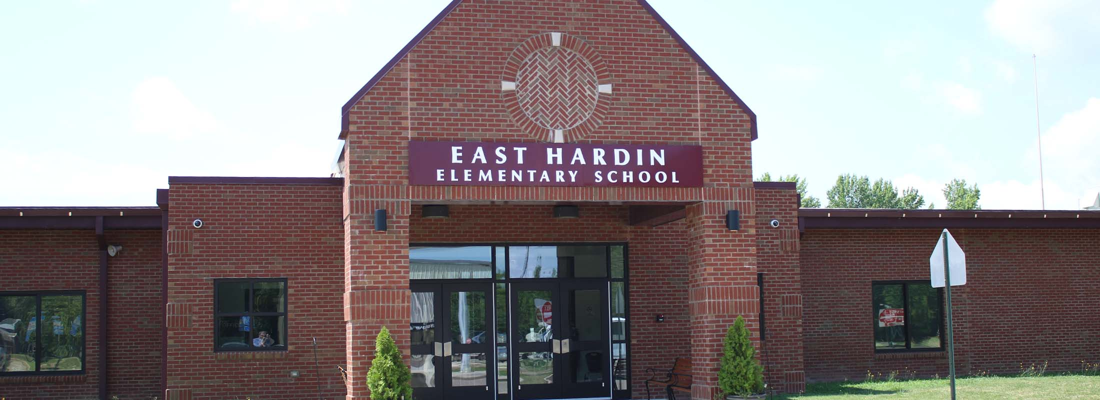 east hardin elementary school front entrance